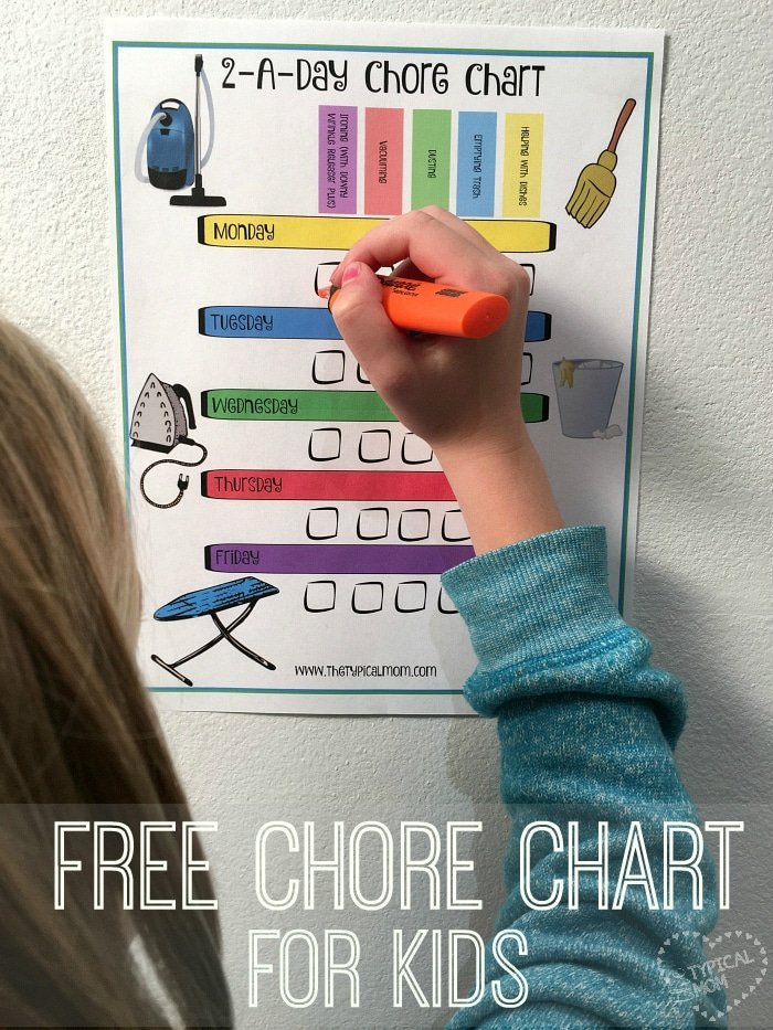 Free Printable Chore Charts 183 The Typical Mom