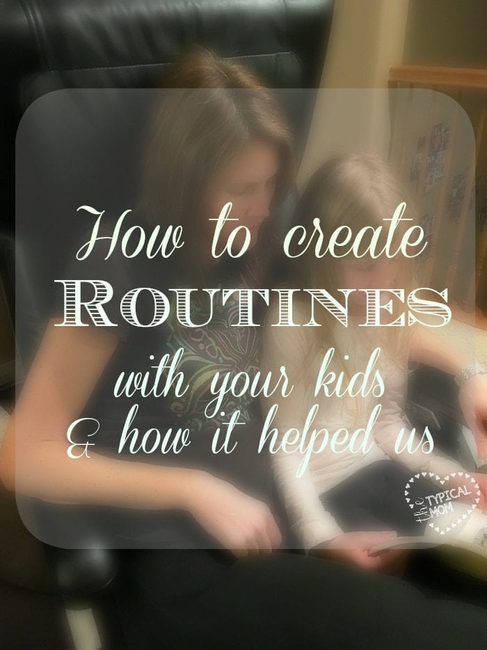 How to create routines with your kids early on and how it helped us parent multiple children...and save our sanity too!