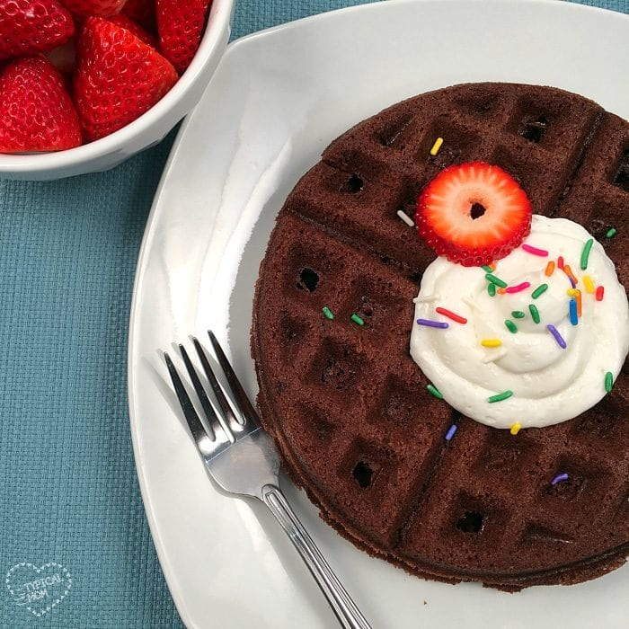 How to make brownie waffles!!
