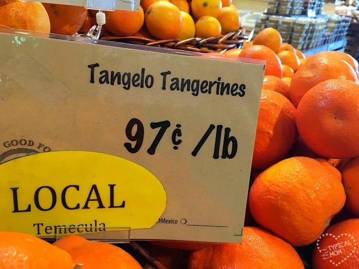 Local California produce.