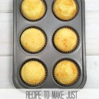 Easy Recipe for 6 Cupcakes