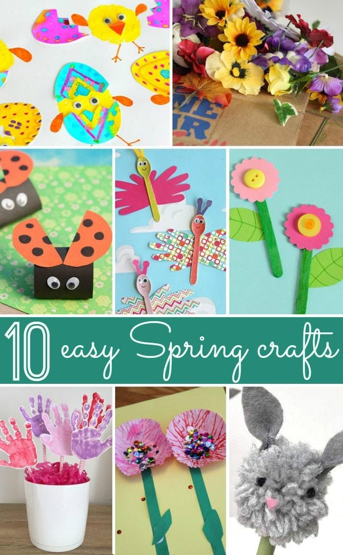 10 Easy Spring crafts for kids that are perfect for the classroom, toddlers, preschoolers and are inexpensive to make.