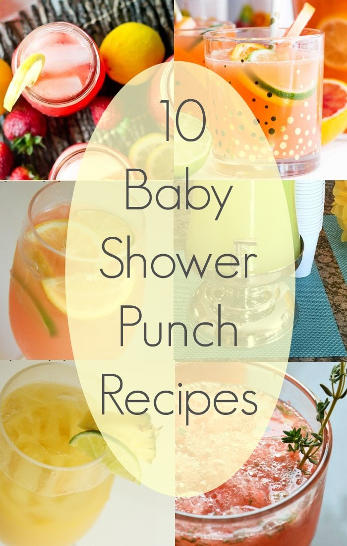 easy baby shower punch recipes yellow blue and pink punch recipes