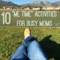 10 me time activities for busy Moms