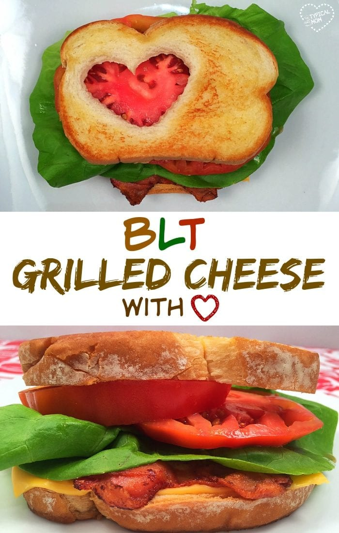 BLT grilled cheese sandwich, an amazing lunch and a fun way to get your kids to eat more vegetables.