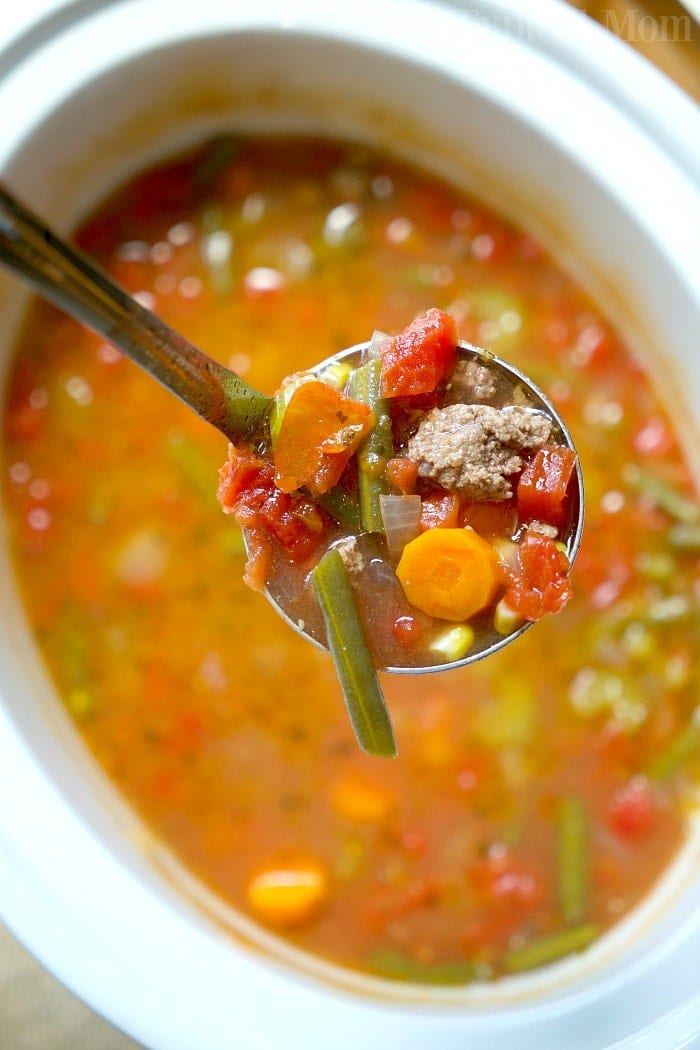 Easy Crock Pot Vegetable Beef Soup 183 The Typical Mom