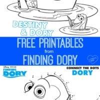 Disney – Pixar's Finding Dory Printables #Finding Dory