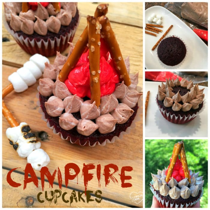 Campfire Cupcakes Video How to make campfire cupcakes!