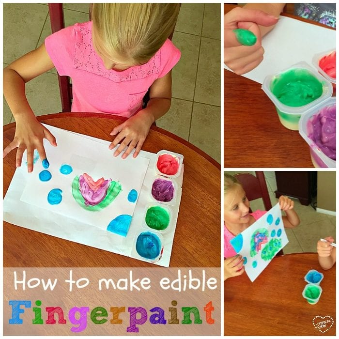 How to make edible finger paints!