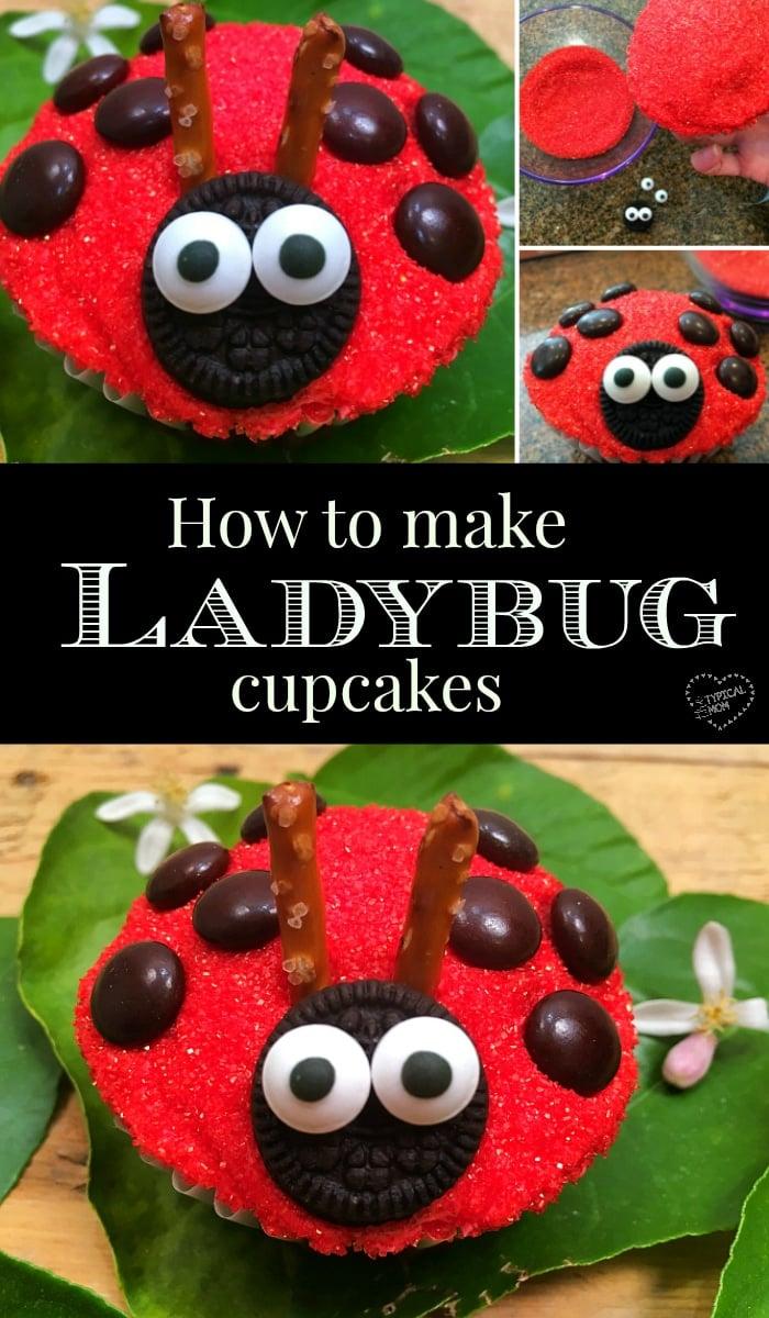 Ladybug cupcake · The Typical Mom