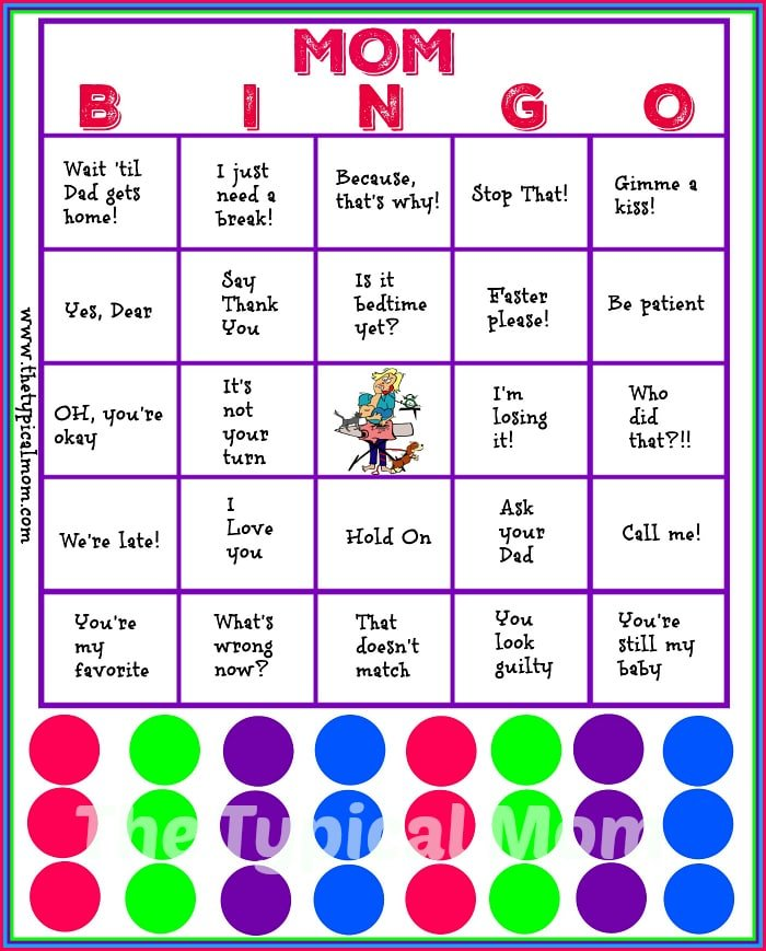 picture about Free Printable Mother's Day Games for Adults referred to as Mother Bingo Printable · The Common Mother