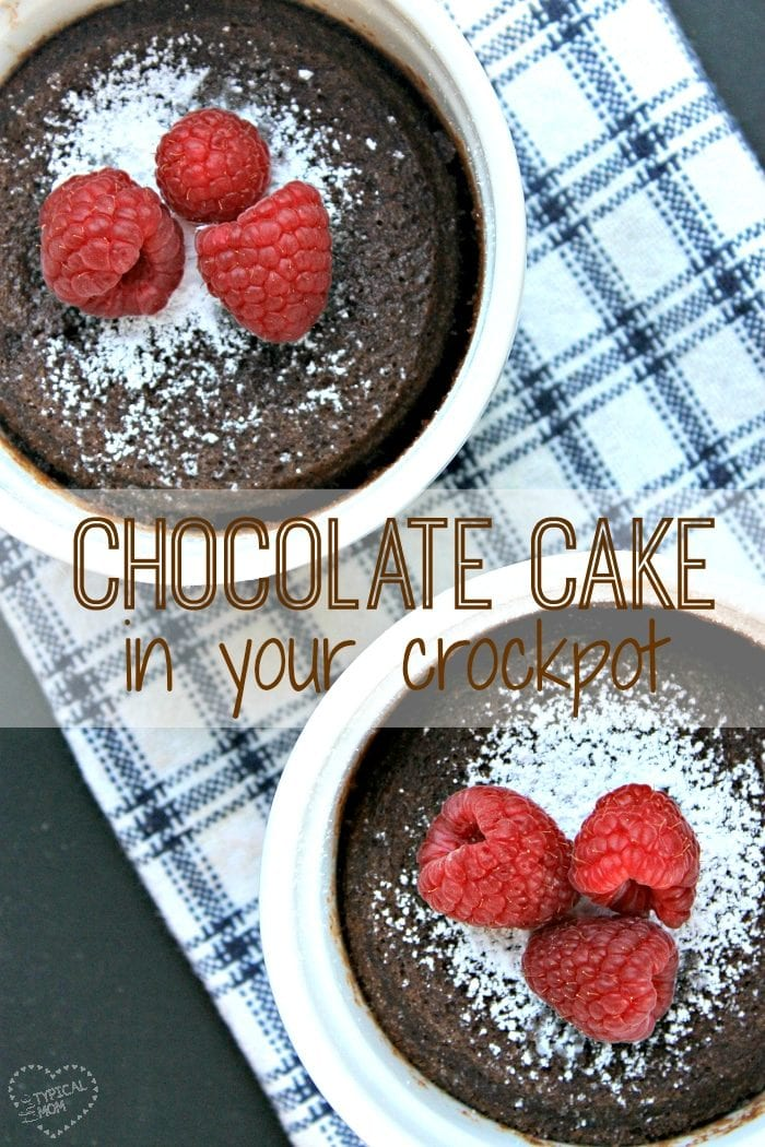 Slow Cooker Flourless Chocolate Cake recipe!! Super easy and such a delicious dessert.