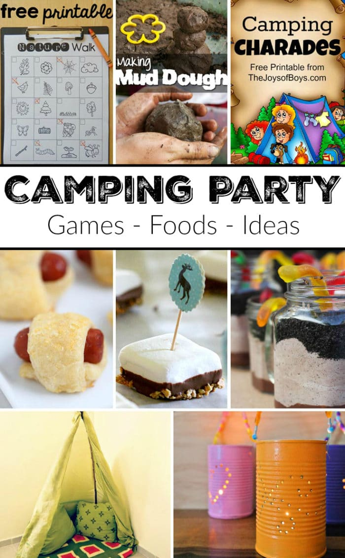 image about Free Printable Camping Signs referred to as Tenting Themed Bash · The Conventional Mother