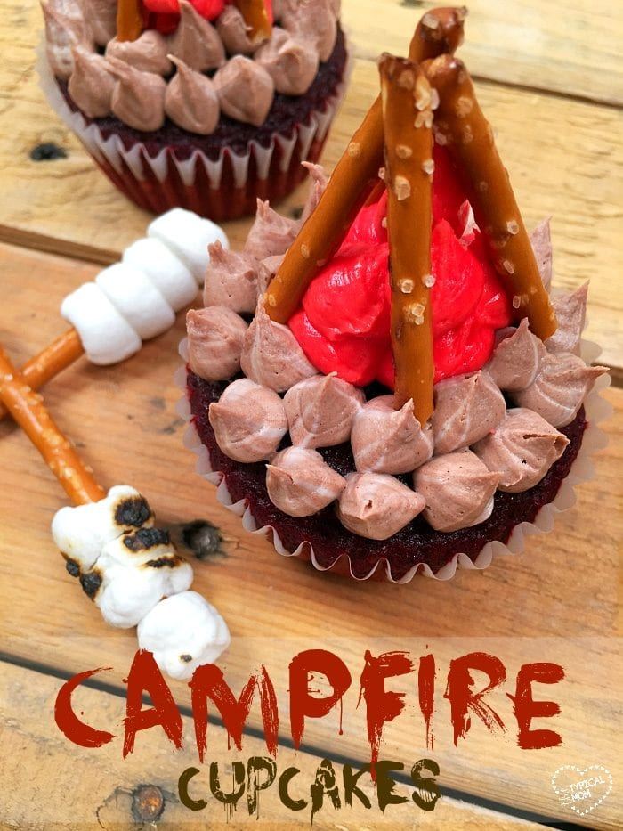 Campfire cupcakes the typical mom for Creative cupcake recipes and decorating ideas