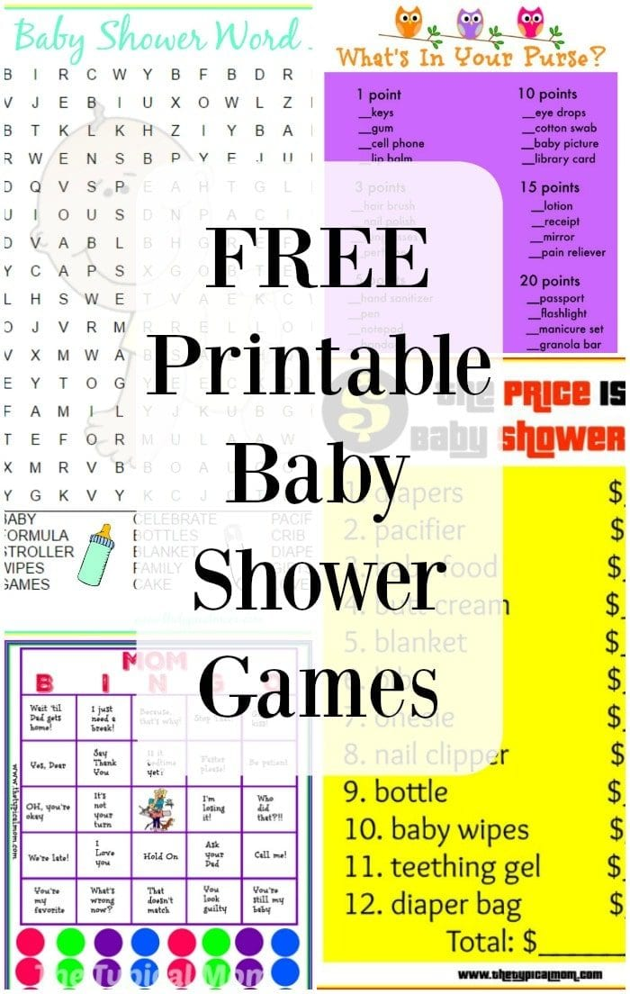Adult baby shower games