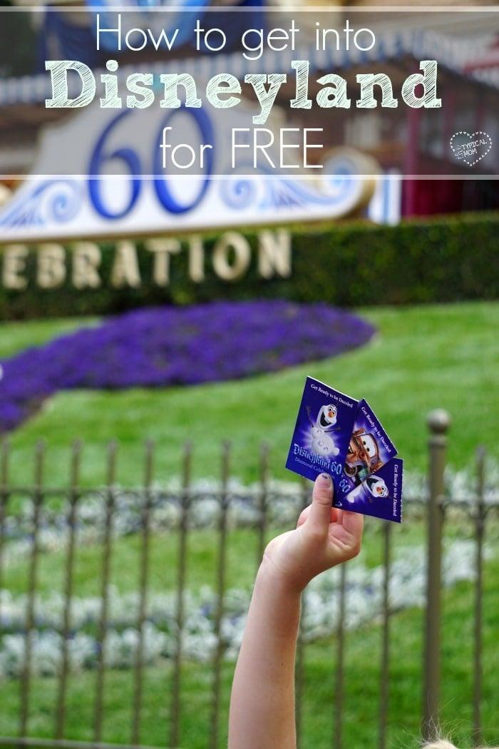 free disneyland tickets