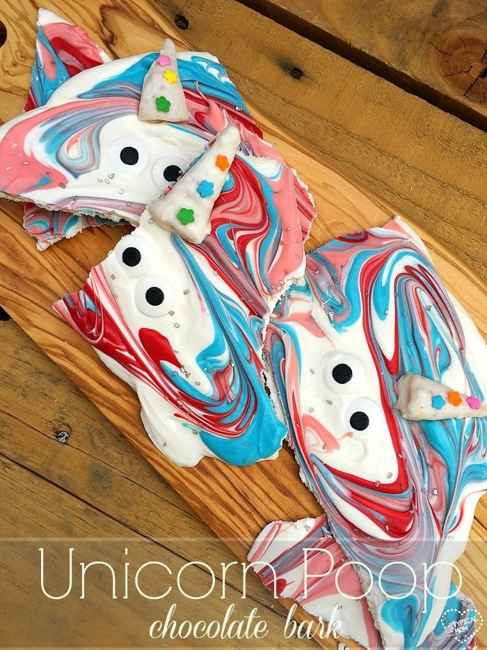 The cutest unicorn poop bark idea ever!! Easy to make and the perfect chocolate unicorn poop you've seen.