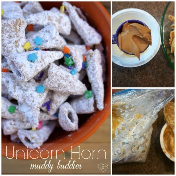Unicorn muddy buddies!!