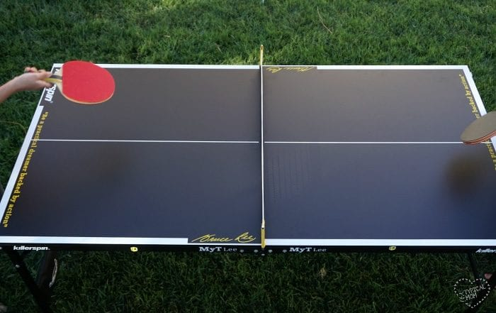 killerspin mini ping pong table the typical mom. Black Bedroom Furniture Sets. Home Design Ideas