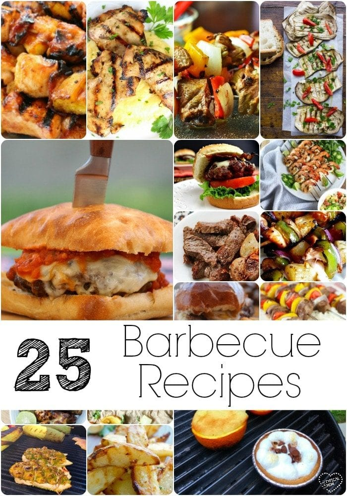 25 of the best barbecue recipes ever! Perfect for summer, here are a bunch of bbq food ideas to try!