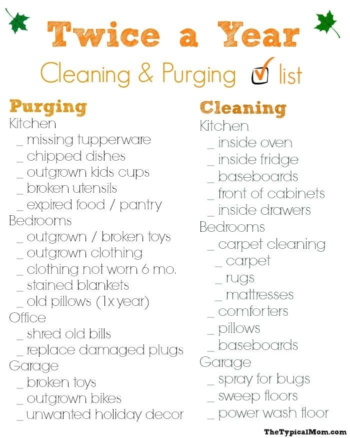 photograph regarding House Cleaning Checklist Printable named Home Cleansing Listing · The Standard Mother