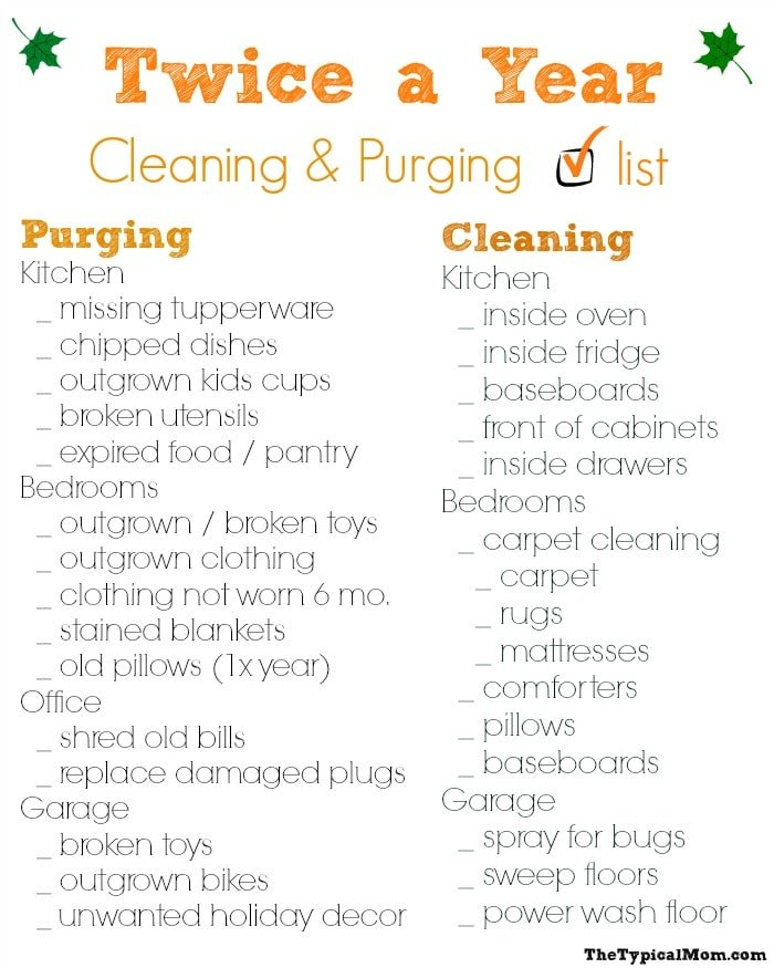 30 Day Spring Cleaning Schedule
