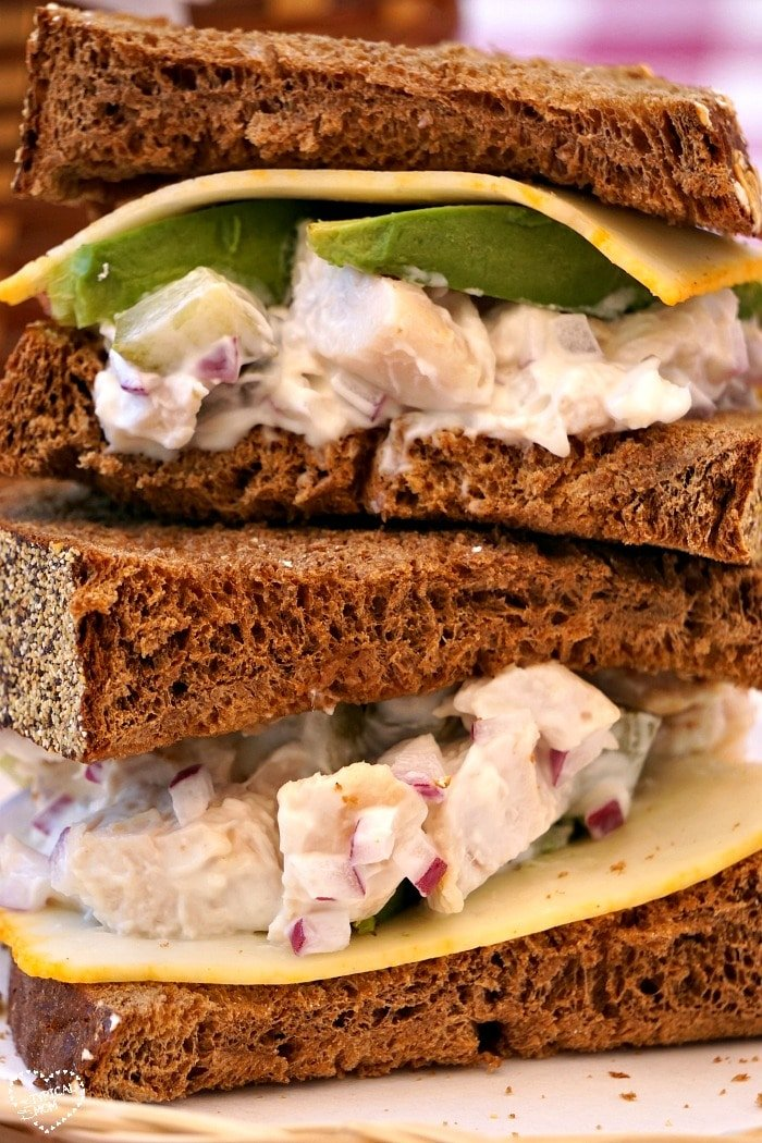 Easy Chicken Salad Sandwich Recipe · The Typical Mom