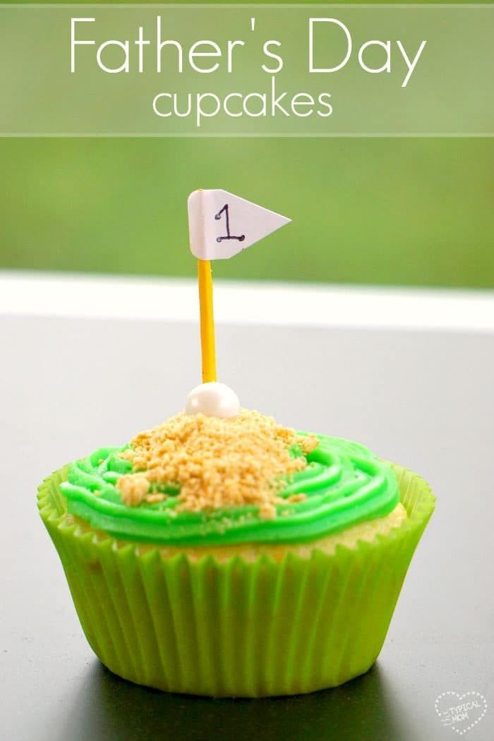 Fathers Day cupcakes you can make with just a few items that are adorable. Or make these cute golf cupcakes for a Birthday party too.