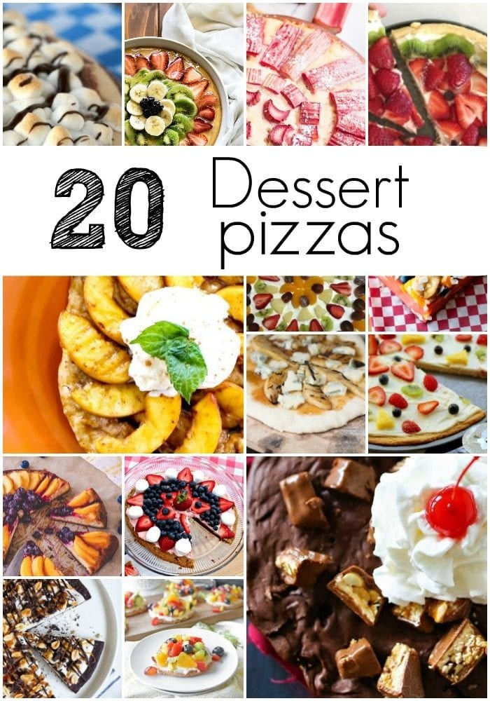 20 of the best dessert pizzas around. You've got to try one of these soon!