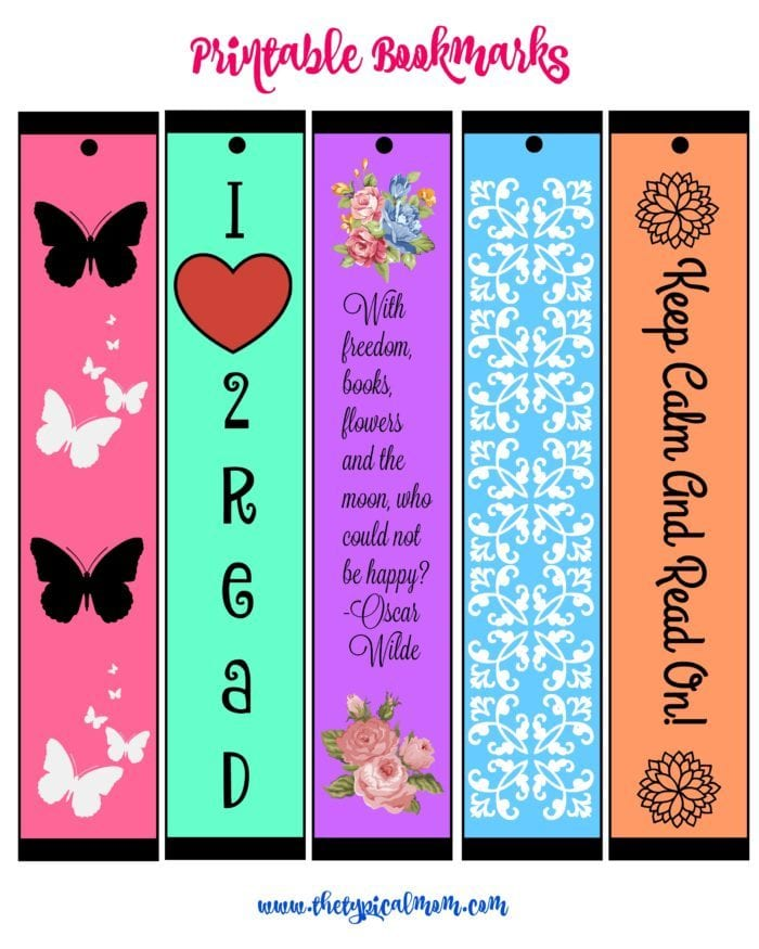 Printable bookmarks for you. Take one and share the others to keep your place in your favorite books. For adults and kids.
