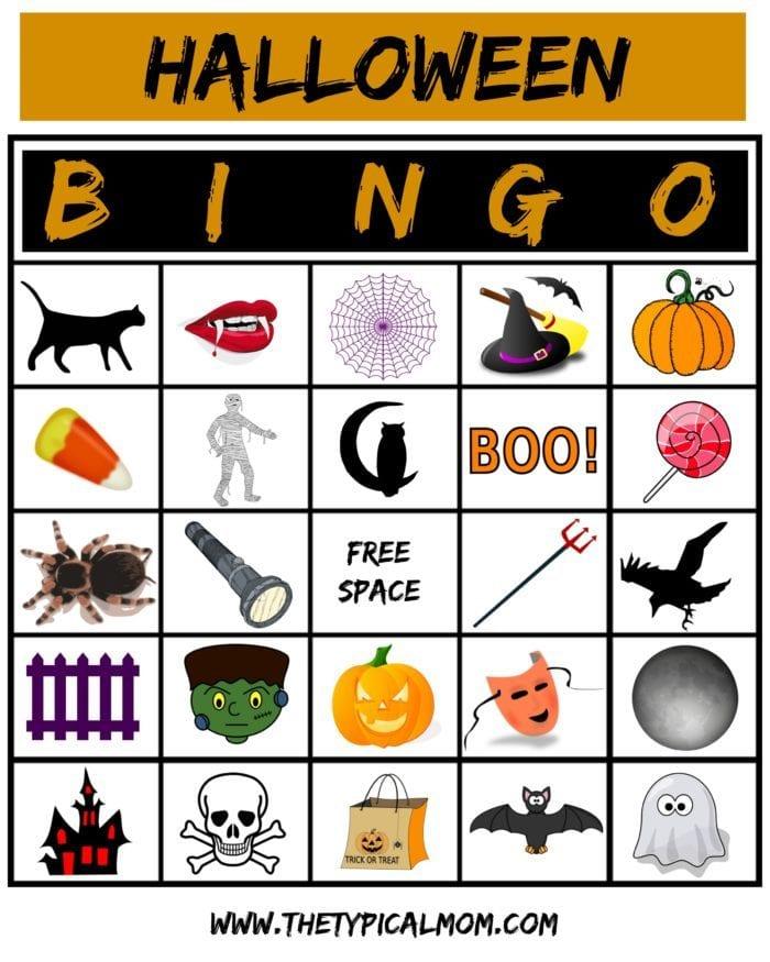 Crush image regarding printable halloween bingo card
