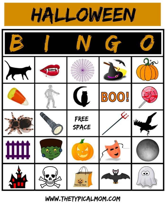 It is a picture of Effortless Free Halloween Bingo Printable