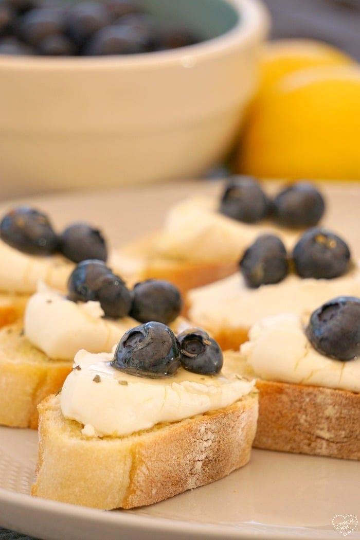 Lemon Fruit Bruschetta
