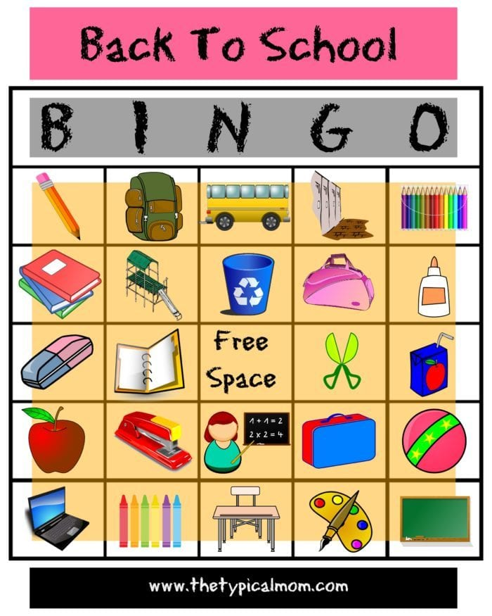 image about Holiday Bingo Printable known as Back again towards College Bingo · The Traditional Mother