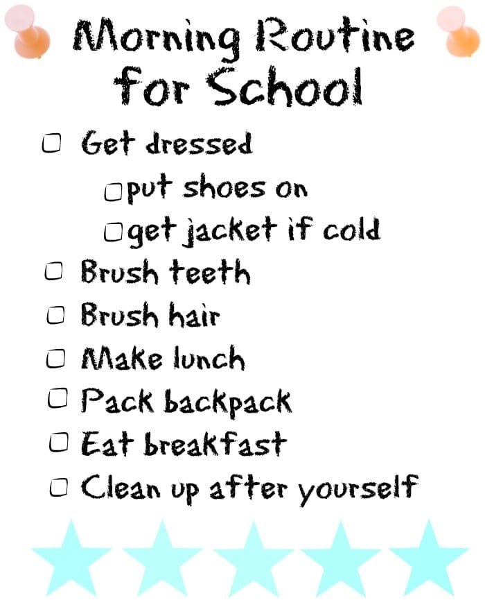 morning routine for school the typical mom