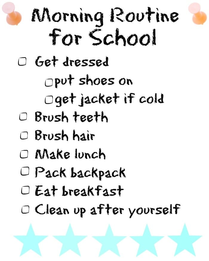 Morning routine for school · The Typical Mom