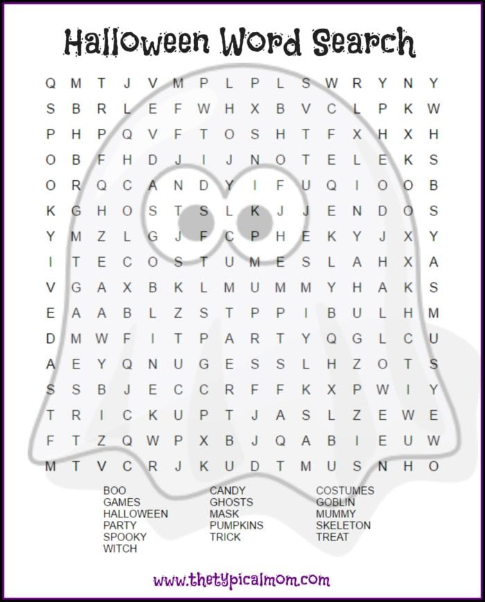 halloween word search printable the typical mom. Black Bedroom Furniture Sets. Home Design Ideas
