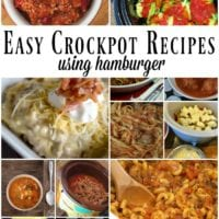 Crockpot hamburger recipes