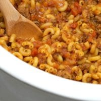 Crockpot hamburger helper recipe