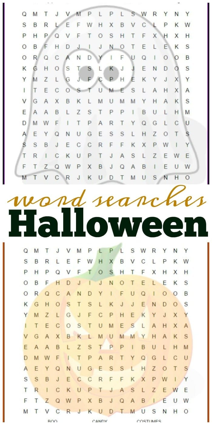 This is a graphic of Universal Halloween Word Searches Printable