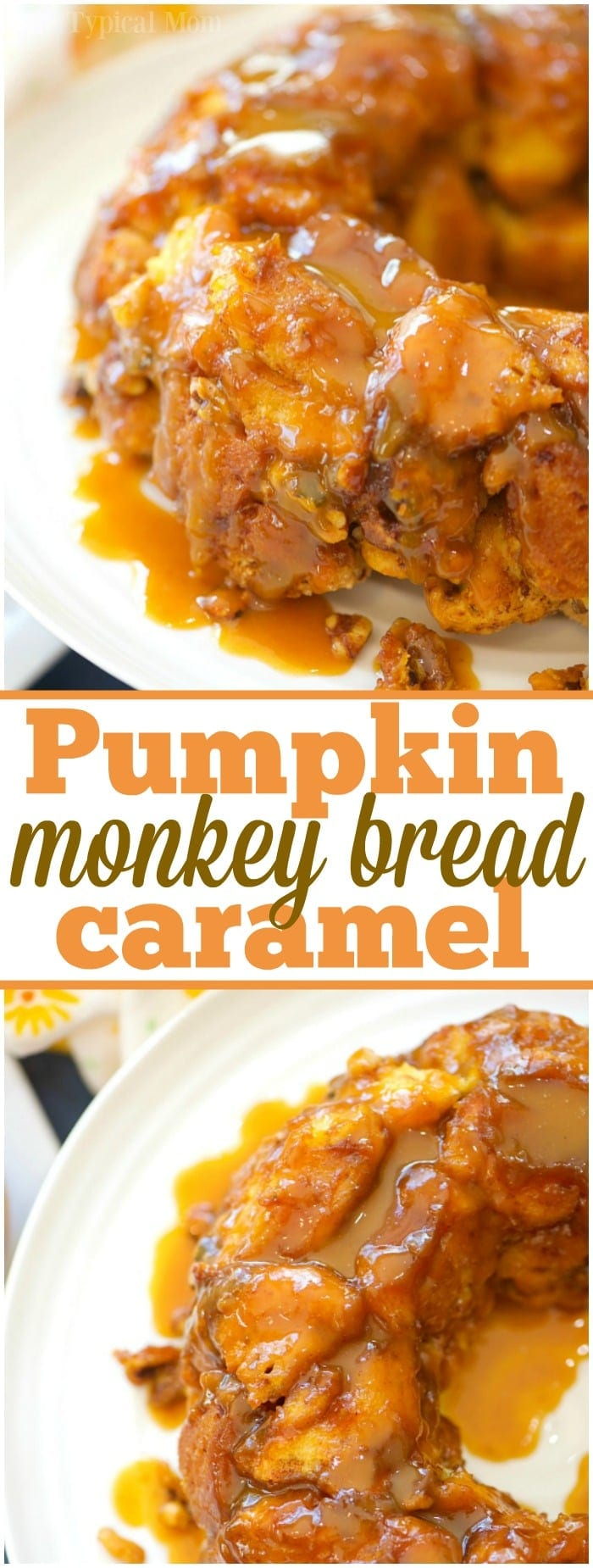 This is the most amazing caramel pumpkin monkey bread you will ever make and it is really easy too!! The best Fall breakfast or dessert I've ever made!