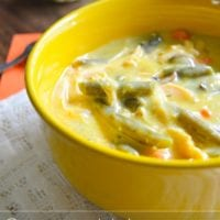 Crockpot creamy chicken soup