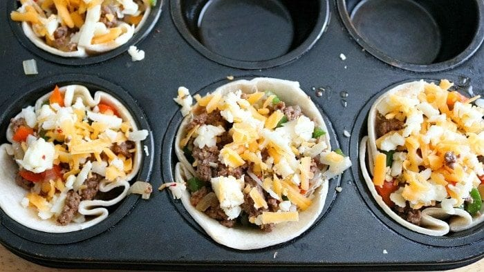 steak fajita cups