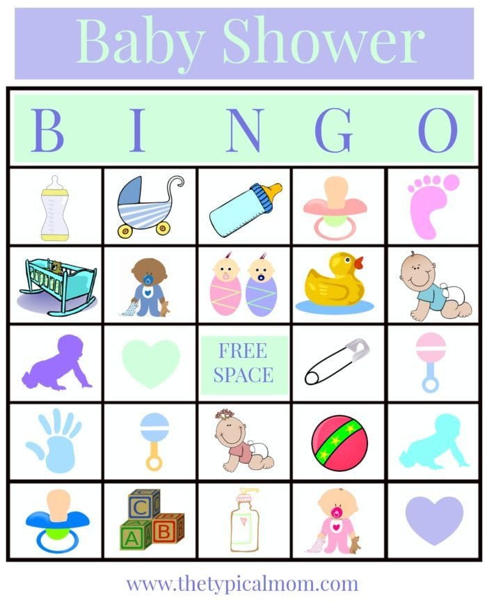 baby shower bingo printable game to play at your next party lots of