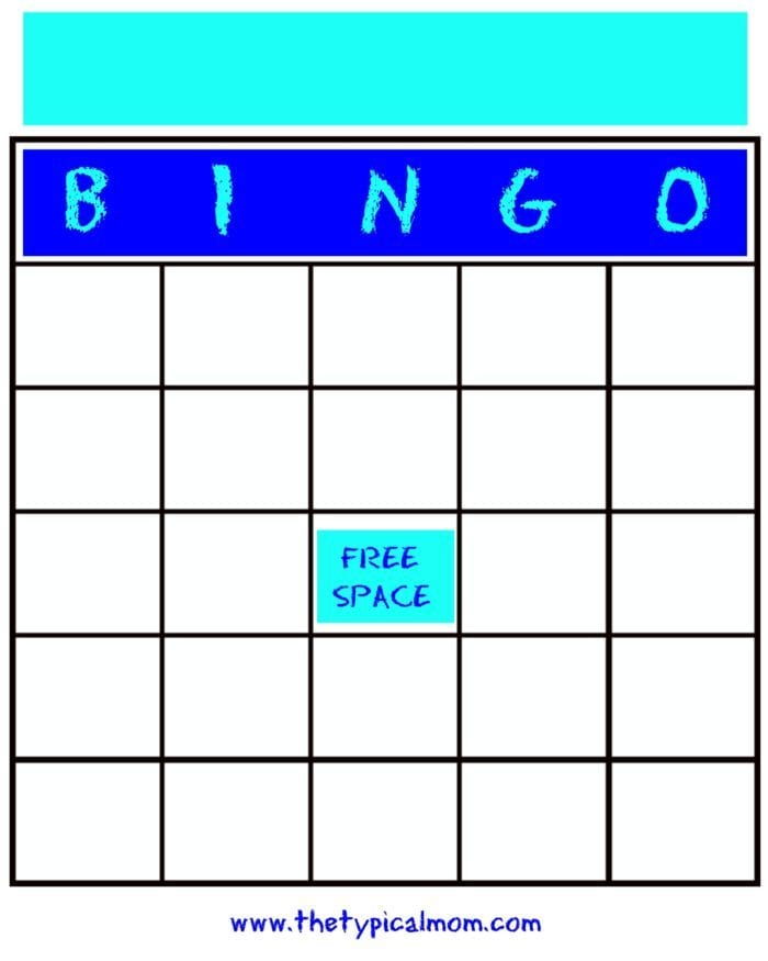 photograph about Disney Bingo Printable titled Blank Bingo Playing cards · The Common Mother
