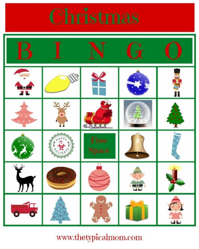 Free Christmas Bingo Printable Game · The Typical Mom