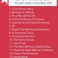 Christmas movies list