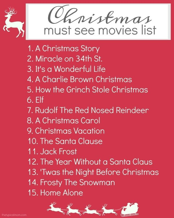 Christmas Movies List 183 The Typical Mom