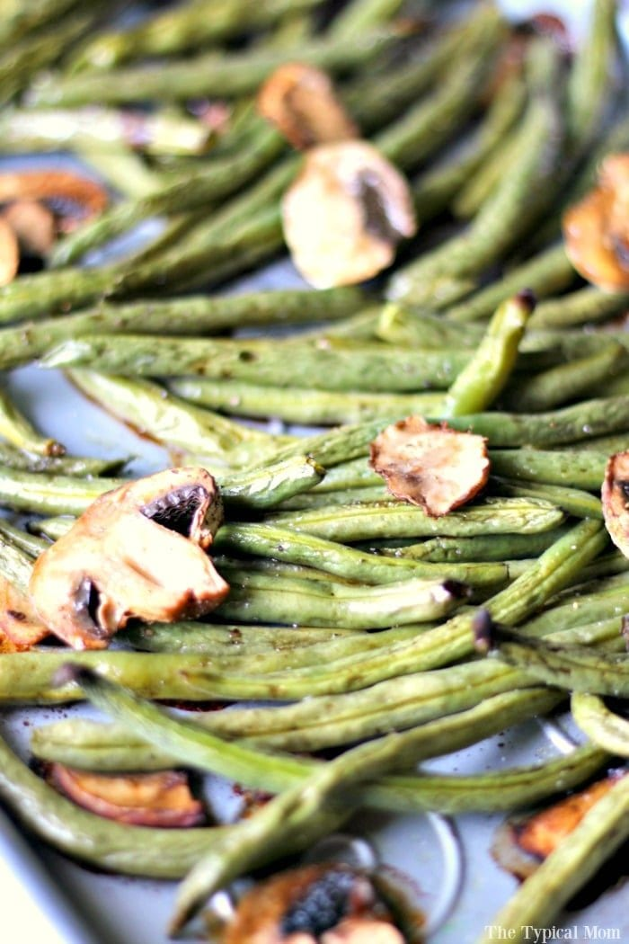 Best green bean recipe you will ever try and SO easy to make. We make these baked green beans as a side dish & for Thanksgiving instead of that casserole.