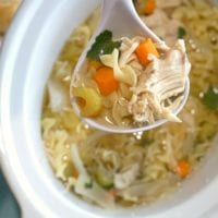 Chicken soup in the crockpot